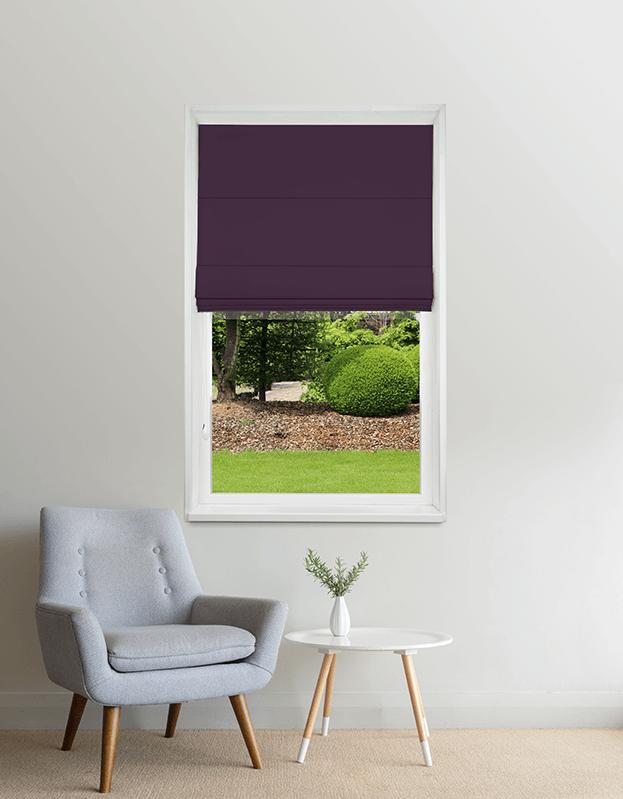 Lavendel verduisterend vouwgordijn